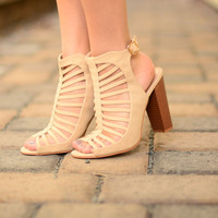 Walk With Me Booties - Nude
