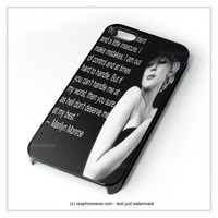 Marilyn Monroe Quote, Give A Girl The Right Shoes iPhone 4 4S 5 5S 5C 6 6 Plus , iPod 4 5 , Samsung Galaxy S3 S4 S5 Note 3 Note 4 , HTC One X M7 M8 Case