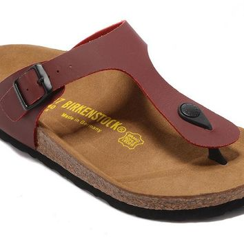 Men's and Women's BIRKENSTOCK sandals  Gizeh Birko-Flor Patent 632632288-025