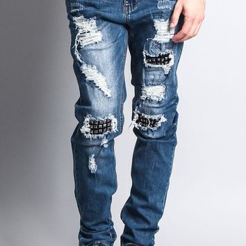 Stud Denim Jeans