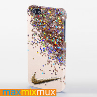 Nike Glitter iPhone 4/4S, 5/5S, 5C Series Full Wrap Case