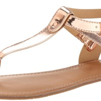 BC Footwear Women's Would If I Could Metallic Sandal