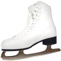 American Athletic Shoe Women's Tricot Lined Ice Skates, White, 8