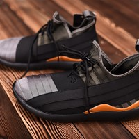 Adidas Y3 Qasa  Elle Lace 2.0   Black/Gray /Orange  Sneaker