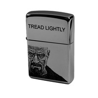 Lighter - Walt Zippo (Engraved by Hip Flask Plus) Tread Lightly Great for Breaking Bad Fans