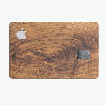 Raw Wood Planks V11 - Premium Protective Decal Skin-Kit for the Apple Credit Card
