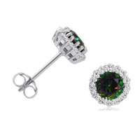 Sterling Silver Mystic and White Topaz Stud Earrings (1 1/4 ctw.)