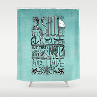 A Ship in Port Shower Curtain by Tiki | Society6