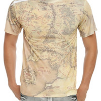 The Lord Of The Rings Middle-Earth Map T-Shirt