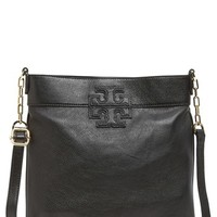 Tory Burch 'Stacked T' Leather Book Bag