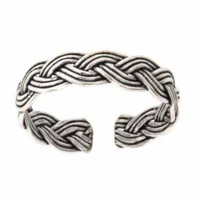 Sterling Silver Braided Toe Ring