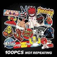 100 Piece Dope Sticker Set for Your Board or Laptop