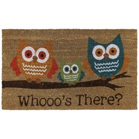 Mohawk Home Bright Eyed Owls Coir Doormat - 18'' x 30'' (Natural)