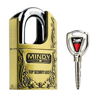 Mindy Padlock - Heavy Duty Vintage Keyed Locks for School, Employee, Gym & Sports Locker, Case, Toolbox, Fence, Hasp Cabinet & Storage, AF4-40