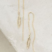 Threaded Feather Earrings by Anthropologie