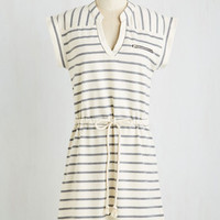Mid-length Short Sleeves A-line Bed and Boardwalk Dress