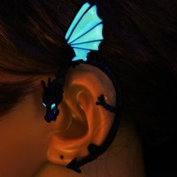 GLOW in the DARK Dragon Ear Cuff