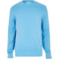 River Island MensTurquoise long sleeve sweatshirt