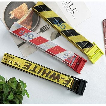 OW Belt Unisex Hip Hop Fashion Style Skateboard Virgil Abloh Belts