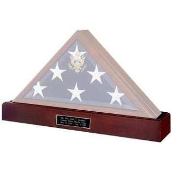 Military Flag and Medal Display Case Shadow Box.
