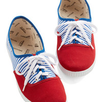 ModCloth Americana Friendly Competition Sneaker in Stripes