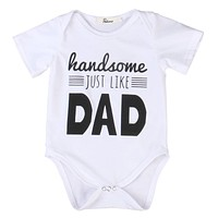 newborn Cotton baby dad Onesuit baby Rompers Girls Boys Clothes baby boy clothing set