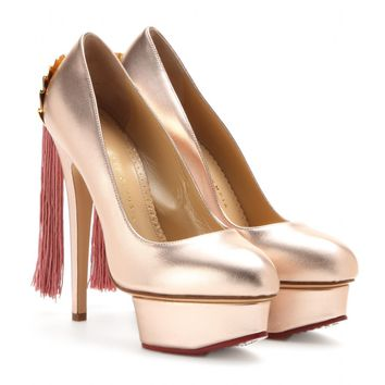 charlotte olympia - fantastic dolly metallic-leather pumps
