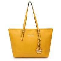Michael Kors MK Women Shopping Bag Canvas Tote Handbag Shoulder Bag