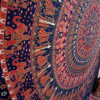 Arrow Elephant Tapestry, Psychedelic tapestry, Mandala, Star Tapestry, Wall Hanging, Wall Decor, Bedspread
