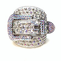 b.b. Simon 'Chrome Milkyway' Studded Swarovski Crystal Belt
