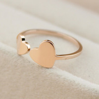 womens retro heart-shaped rose gold ring tail ring gift-151
