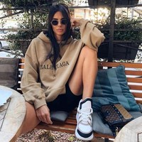 BALENCIAGA Classic Popular Women Men Hot Hoodie Cute Sweater