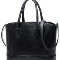 Black Candy Color PU Leather Shoulder Bag