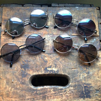 Metal Circle Sunglasses Dark Retro Hippie Glasses - Lennon
