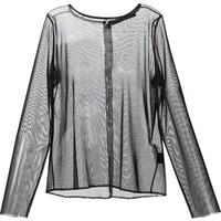 Anthony Vaccarello sheer blouse