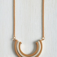 Minimal Pleasant Crescent Necklace by ModCloth