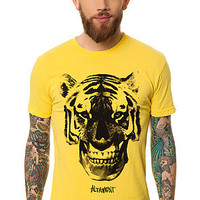 The Tiger Face Tee in Yellow