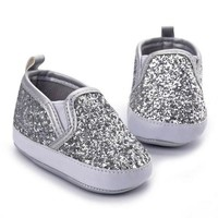 Glittery Baby Slip-on Shoes