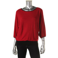Style & Co. Womens Knit Dolman Sleeves Pullover Top