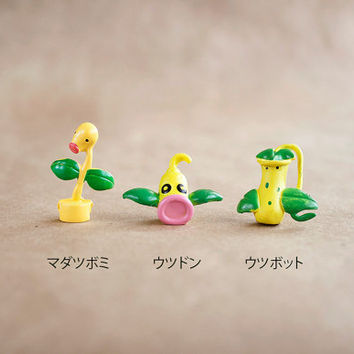 Bellsprout Weepinbell and Victreebel / Pokemon / Mini Figurines for Decoden / Poké Crafts / Charms and More!