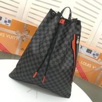 Kuyou Lv Louis Vuitton Gb29624 Damier Cobalt-coated Canvas Backpack Size 42.2*49.5*10.0 Cm