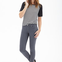 FOREVER 21 Classic Skinny Jeans Grey