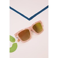 Pink Marble Frame Sunglasses, Pink