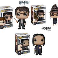 Funko POP ! Classic  Magic Movie Harry Potter 01 # 21 # 05 # Harry with Cap Severus Snape Vinyl Figure Toys