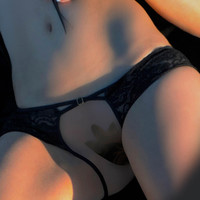 Open Panties with Cross Straps Lingerie Sexy Panties