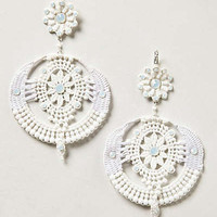 Anthropologie - Cut Lace Earrings
