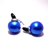 Legend of Zelda Blue Bombs Polymer Clay Earrings, Silver Toned, Silver Plated, 22k Gold Plated, Hypoallergenic, Gamer Gaming Inspired.