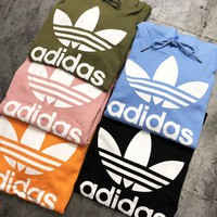 ADIDAS  fashion hit for couples with a big printed hoodie
