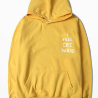 New Kanye West Yellow Hoodies High Street Dead Fly Skateboard I Feel Like Pablo Coconut Sweatshirt And Hoodies Kanye Pablo