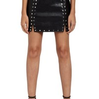 Missguided Studded Faux Leather Miniskirt   Nordstrom